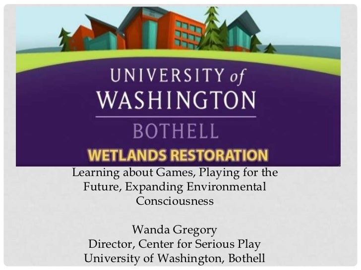 Learning about Games, Playing for the Future, Expanding Environmental ConsciousnessWanda GregoryDirector, Center for Serio...