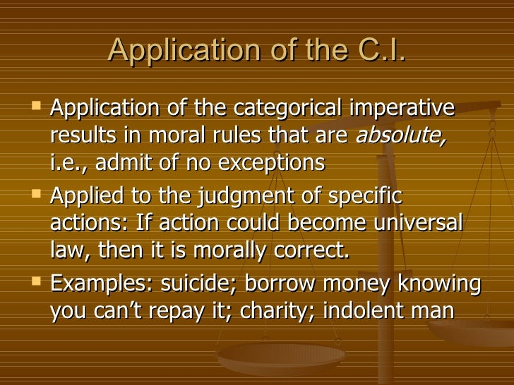 Kant's Categorical Imperative: Summary & Analysis