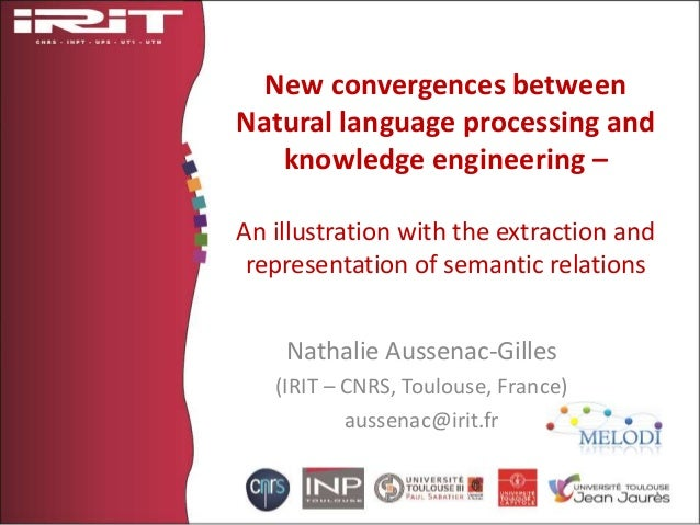 New convergences between Natural language processing and knowledge engineering – An illustration with the extraction and r...