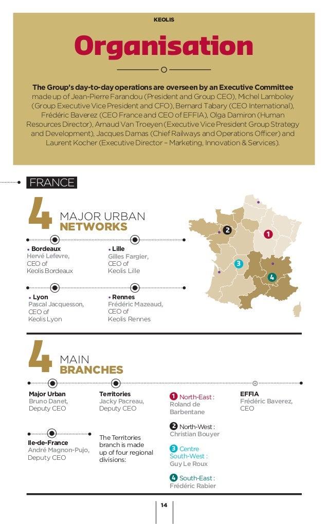 14 KEOLIS Organisation 4MAJOR URBAN NETWORKS 4MAIN BRANCHES Major Urban Bruno Danet, Deputy CEO Ile-de-France André Magnon...