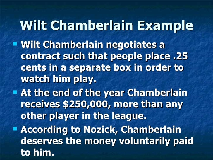 Image result for nozick Wilt Chamberlain example