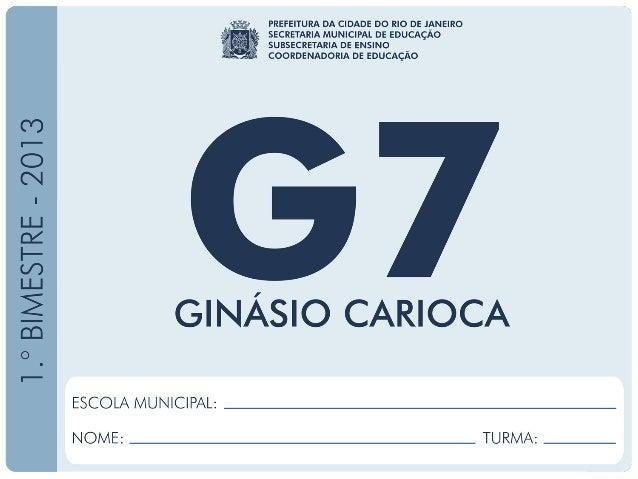 Geografia-7.ºAno 1.ºBIMESTRE/2013 EDUARDO PAES PREFEITURA DA CIDADE DO RIO DE JANEIRO CLAUDIA COSTIN SECRETARIA MUNICIPAL ...