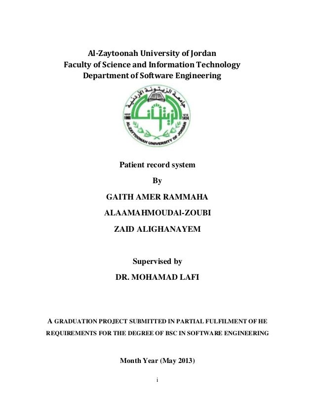 Al-Zaytoonah University of Jordan    Faculty of Science and Information Technology         Department of Software Engineer...