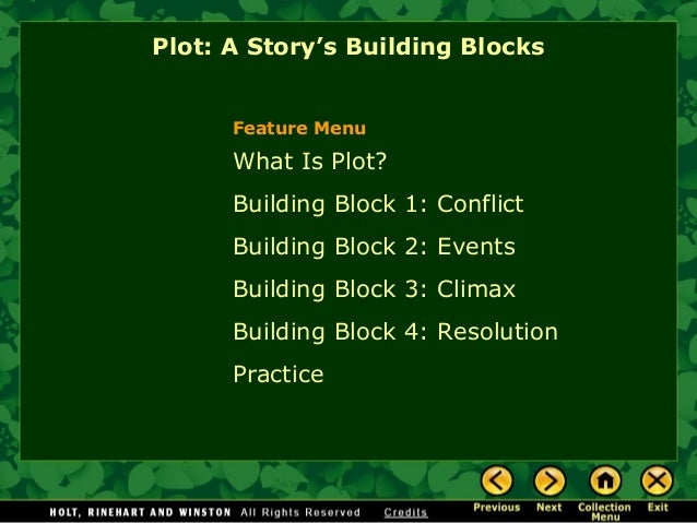 Story elements notes and practice in depth what is plot building block 1 conflict building block 2 events building block ccuart Image collections