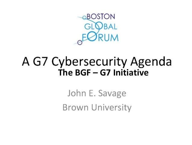 The BGF – G7 Initiative