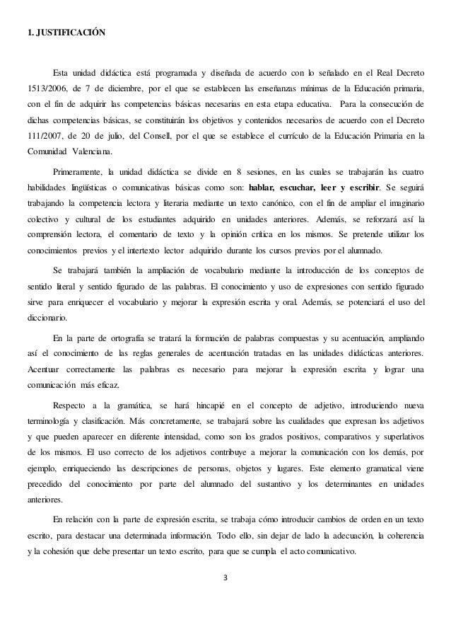 UNIDAD DIDÁCTICA DE LENGUA Y LITERATURA CASTELLANAS, 6º Slide 3