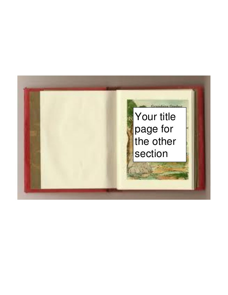 Your titlepage forthe othersection