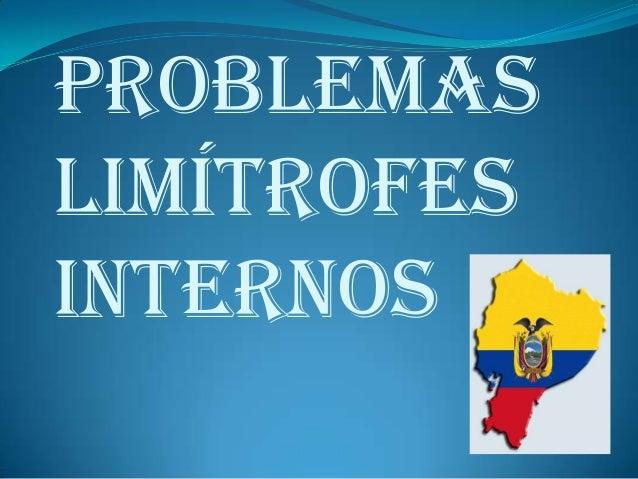 Problemas limítrofes internos