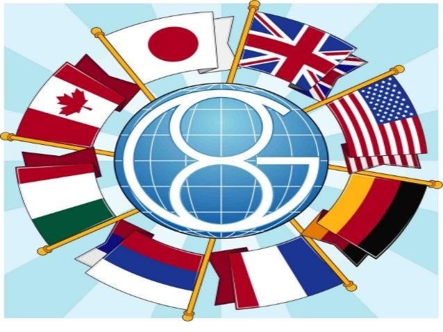 A sigla G-8 corresponde ao grupo dos 8 países mais ricos e influentes domundo, fazem parte os Estados Unidos, Japão, Alema...