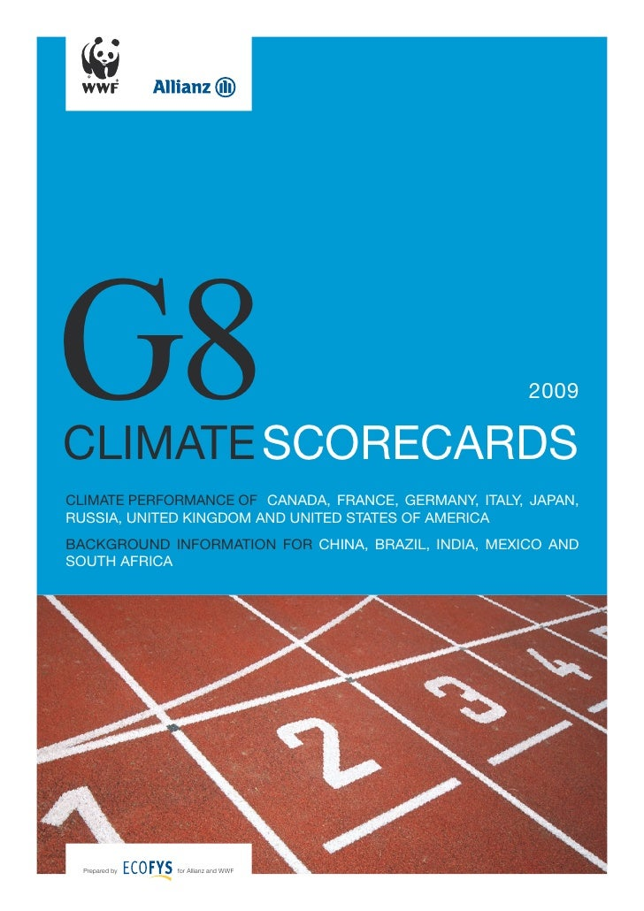 Ԍ8climate scorecards                                                       2009climate performance of canada, france, Germ...