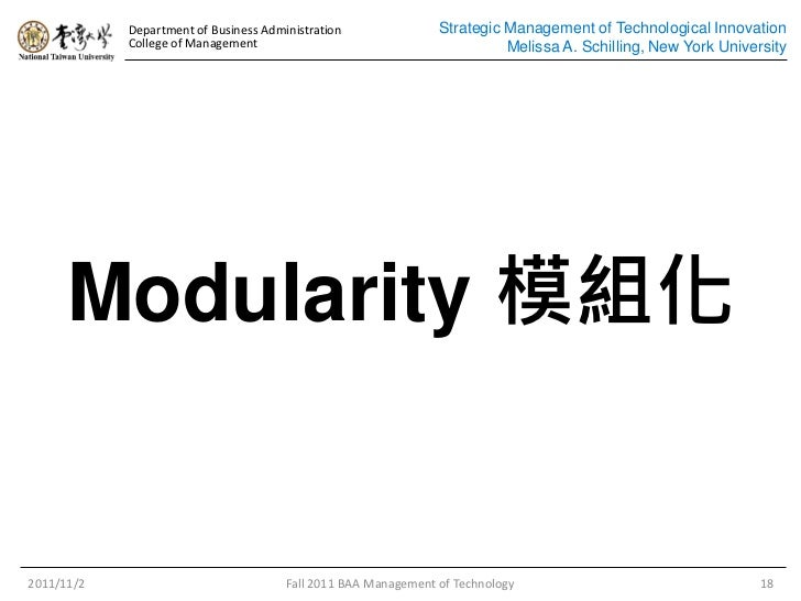 Strategic management of technological innovation schilling