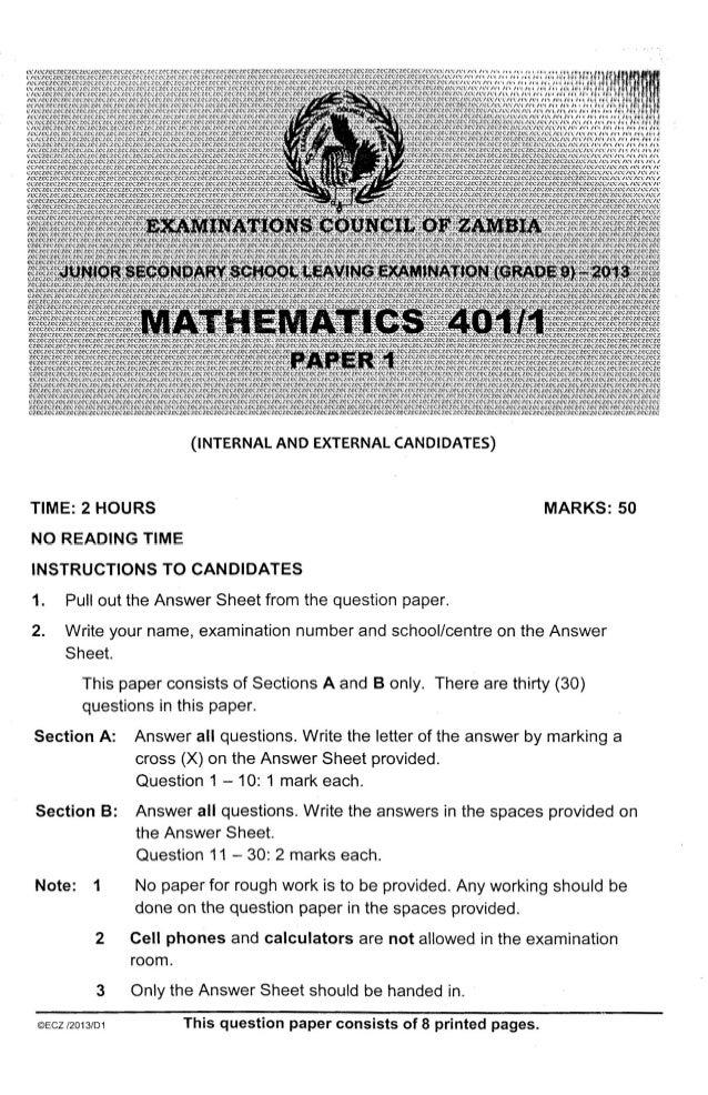 Grade nine science exam ebook array ecz grade 9 maths paper 1 2016 past paper rh slideshare fandeluxe Image collections
