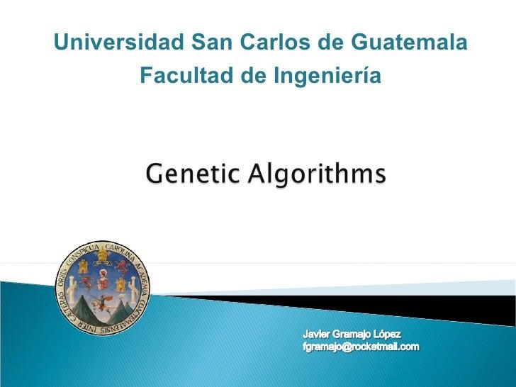 Universidad San Carlos de Guatemala Facultad de Ingeniería