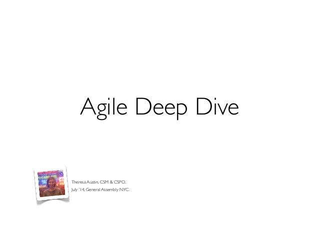 Agile & SCRUM - Deep Dive for General Assembly