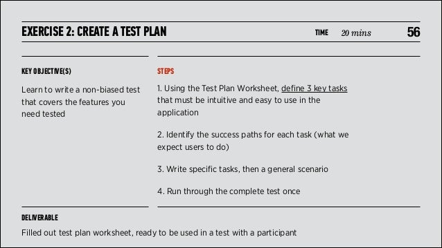 usability test plan template