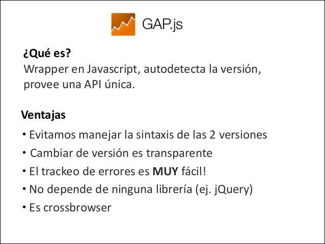 GAP.js Ejemplos:   -‐ Asignando un evento a un link con data-‐akributes  !   Código Javascript     GAP...