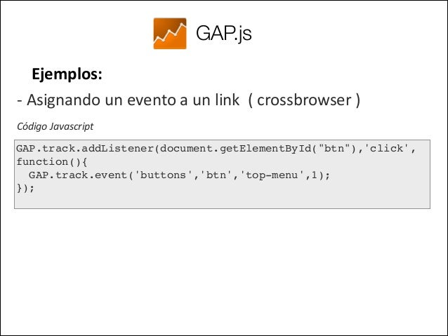 GAP.js Ejemplos:   -‐ Asignando un evento a todos los elementos  con    data-‐akributes u.lizando jQuer...