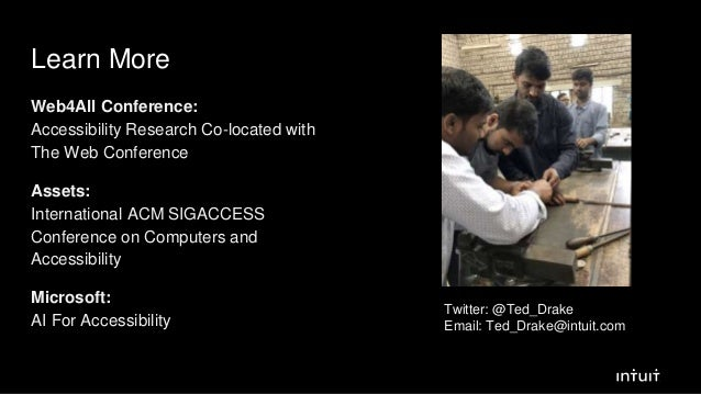 Learn More Web4All Conference: Accessibility Research Co-located with The Web Conference Assets: International ACM SIGACCE...