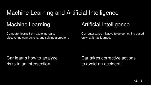 Machine Learning and Artificial Intelligence Machine Learning Computer learns from exploring data, discovering connections...