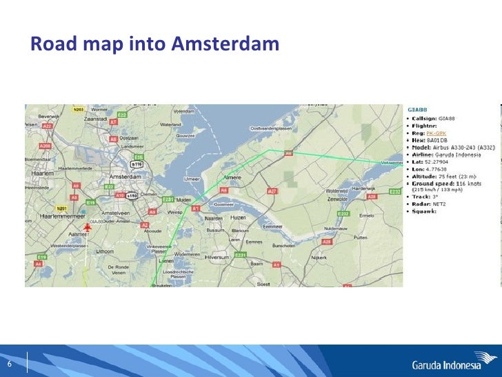 Road map into Amsterdam