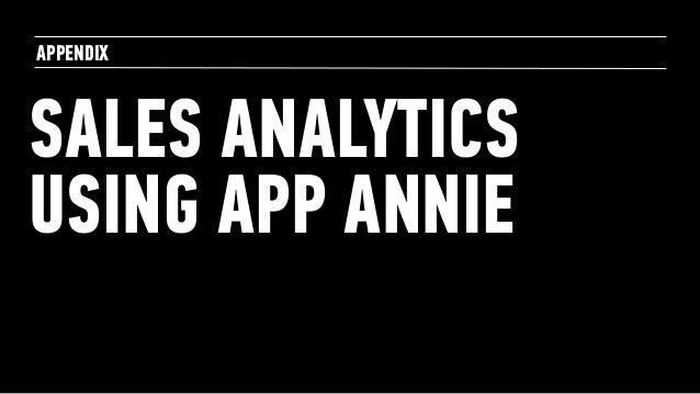 SALES ANALYTICS USING APP ANNIE APPENDIX