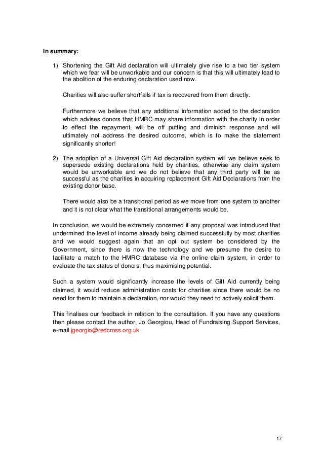 Red cross gift aid and digital our response to the government consult 17 negle Images