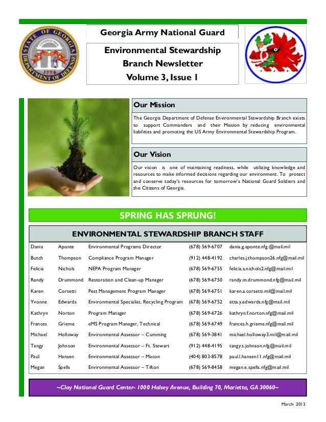 Dania Aponte Environmental Programs Director (678) 569-6707 dania.g.aponte.nfg.@mail.milButch Thompson Compliance Program ...