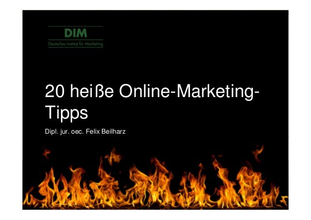 """Content is king."" Online Marketing Weisheit © DIM Deutsches Institut für Marketing 20 heiße Online-Marketing- Tipps Dipl...."