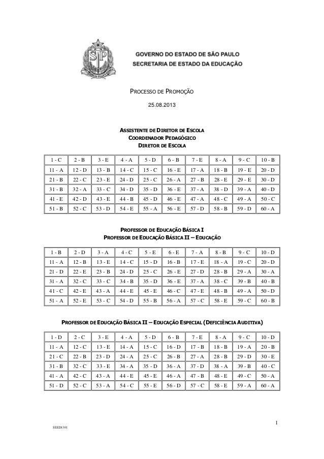 1 SEED1301 PROCESSO DE PROMOÇÃO 25.08.2013 ASSISTENTE DE DIRETOR DE ESCOLA COORDENADOR PEDAGÓGICO DIRETOR DE ESCOLA 1 - C ...