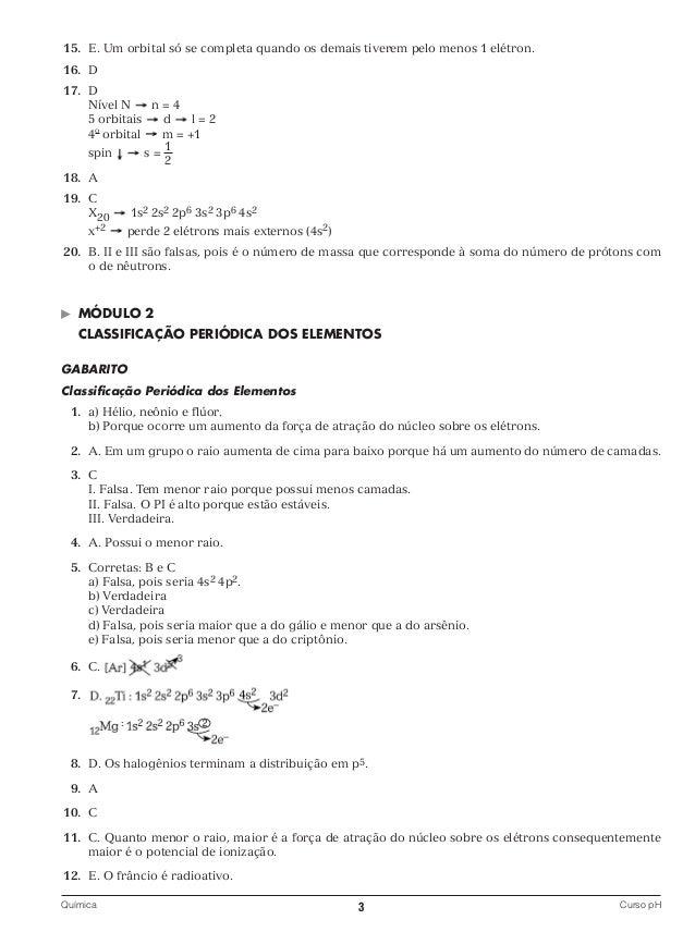 Gabarito 1o. bim   química Slide 3