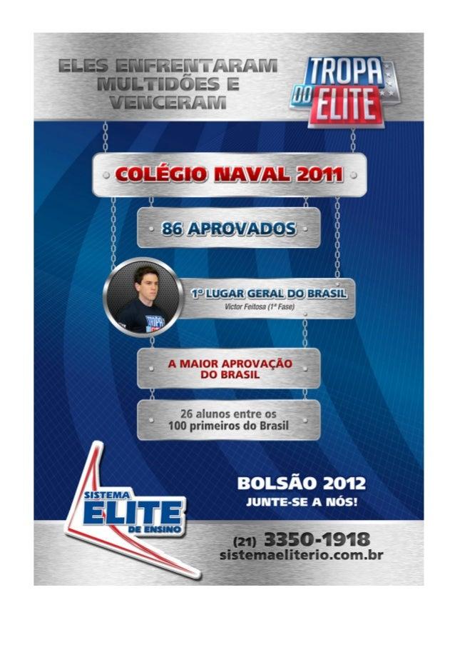 Sistema ELITE de Ensino                                        COLÉGIO NAVAL 2011/2012                                    ...