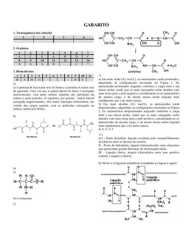 GABARITO1. Termoquímica das soluções       1             2                  3               42. Orgânica    1         2   ...