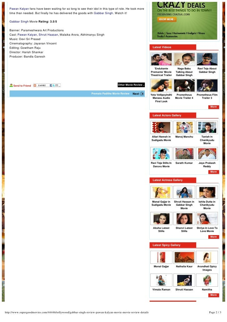 Gabbarsingh movie review Slide 2
