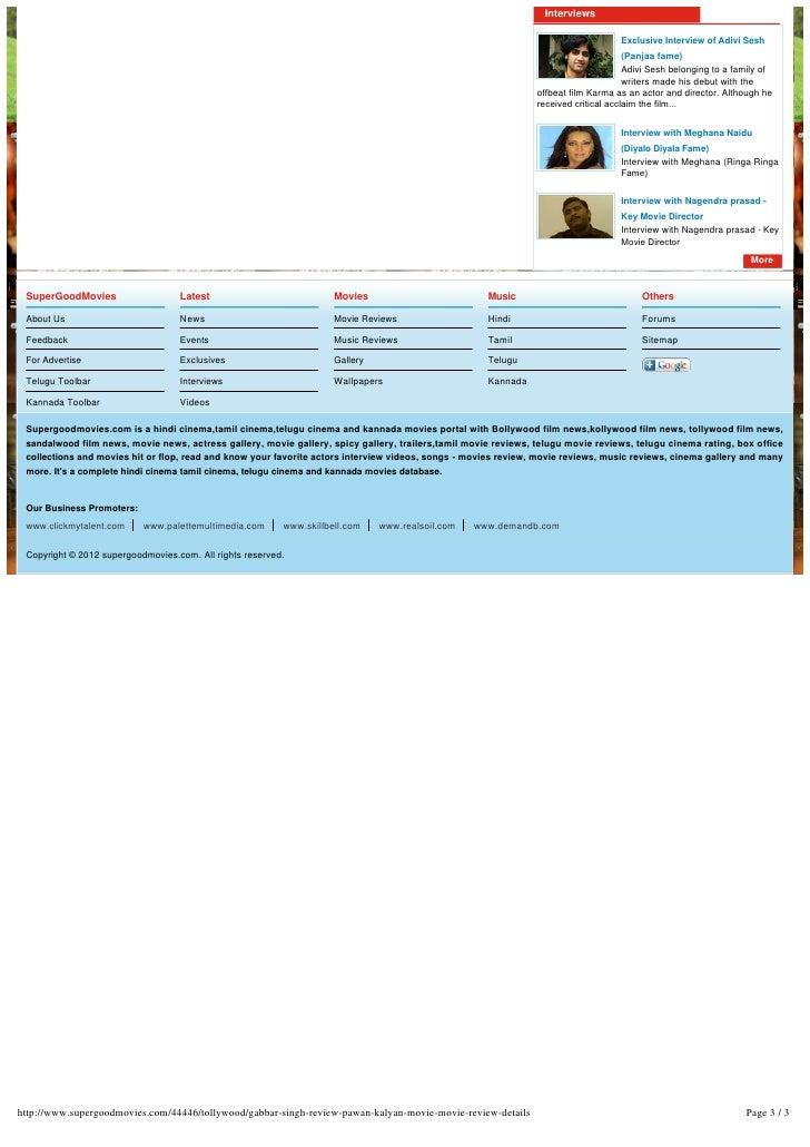 Gabbarsingh movie review Slide 3