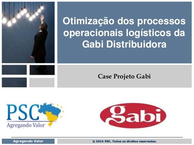 © 2014 PSC. Todos os direitos reservados.Agregando Valor Otimização dos processos operacionais logísticos da Gabi Distribu...