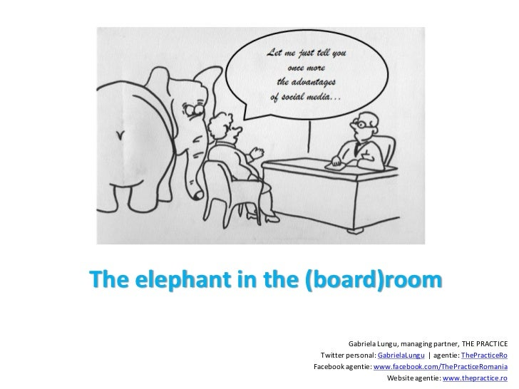 The elephant in the (board)room                              Gabriela Lungu, managing partner, THE PRACTICE               ...