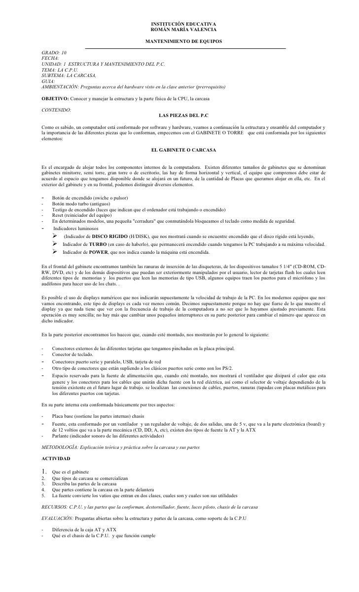 INSTITUCIÓN EDUCATIVA                                                          ROMÁN MARÍA VALENCIA                       ...