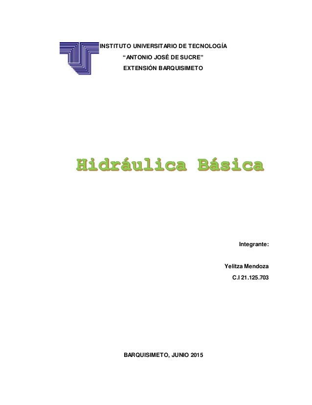 """INSTITUTO UNIVERSITARIO DE TECNOLOGÍA """"ANTONIO JOSÉ DE SUCRE"""" EXTENSIÓN BARQUISIMETO Integrante: Yelitza Mendoza C.I 21.12..."""