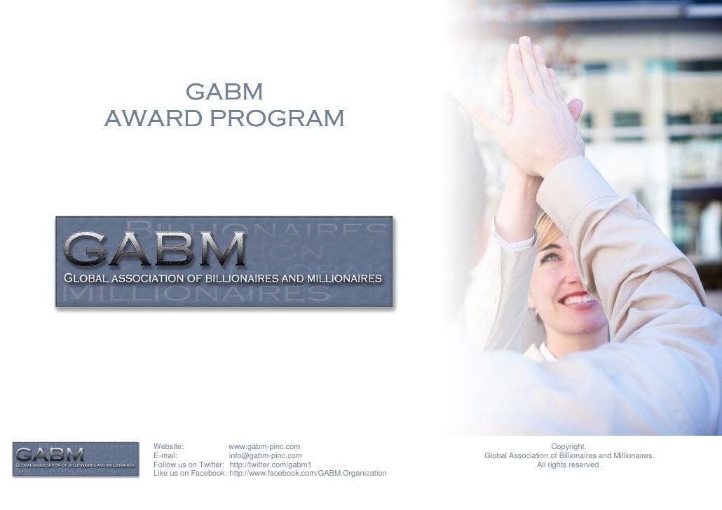 GABMAWARD PROGRAM  Website:              www.gabm-pinc.com                                               Copyright.  E-mai...