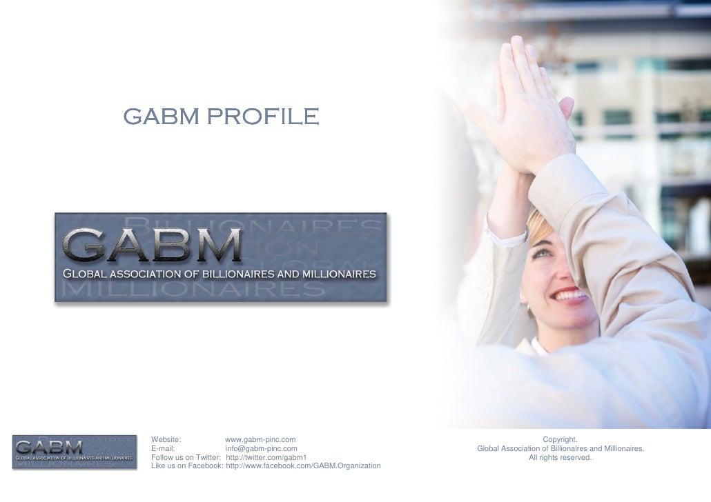 GABM PROFILE Website:              www.gabm-pinc.com                                               Copyright. E-mail:     ...