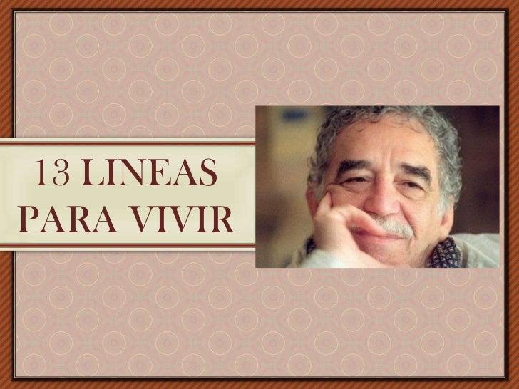 13 LINEAS PARA VIVIR<br />