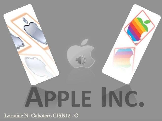 APPLE INC.Lorraine N. Gabotero CISB12 - C