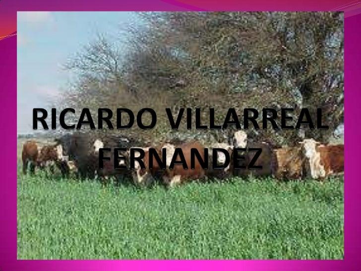 RICARDO VILLARREAL FERNANDEZ<br />