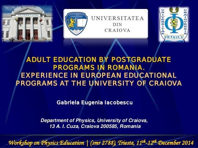 Adult Education University 16