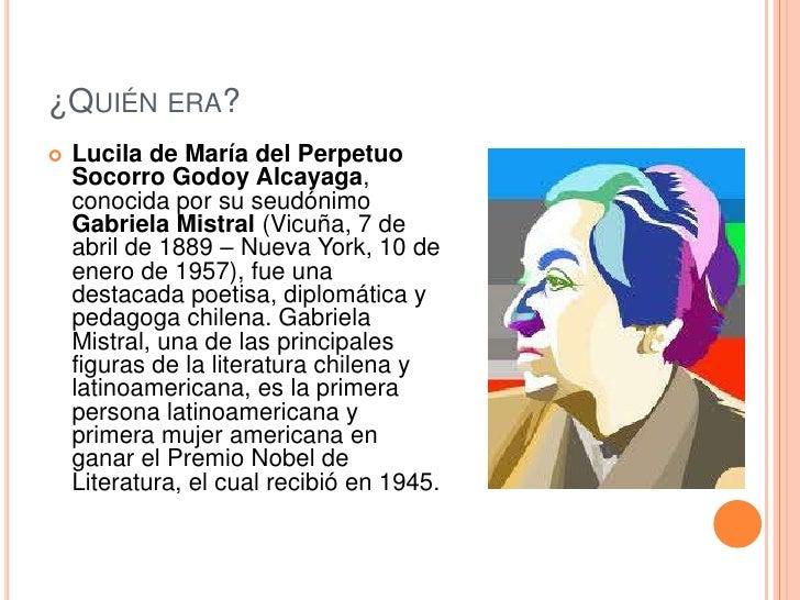 Gabriela mistral Slide 2