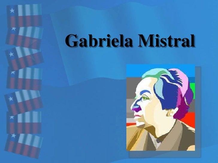 Gabriela Mistral<br />