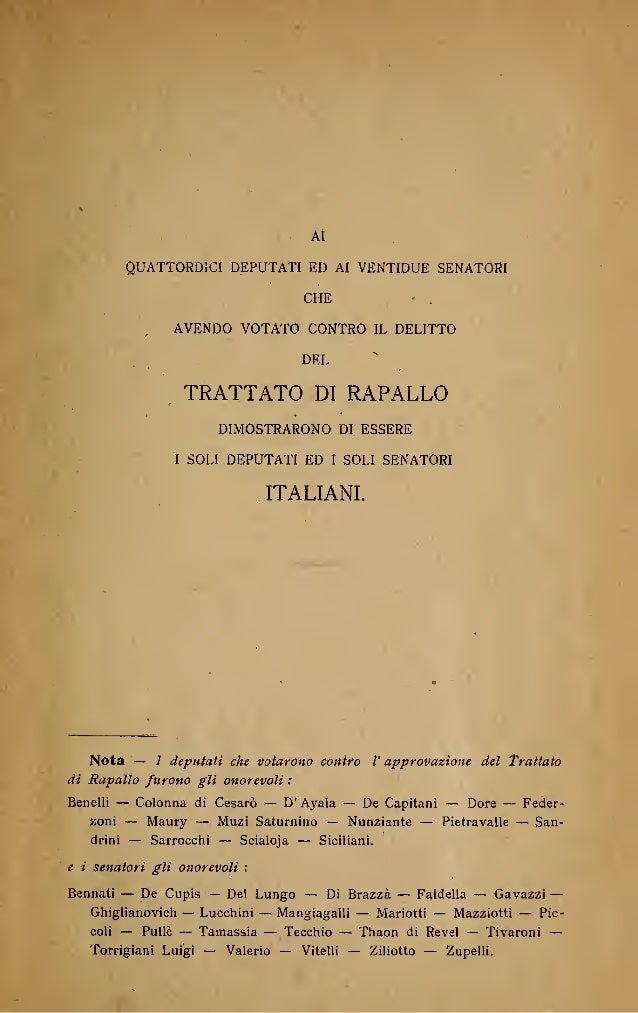 gabriele d 39 annunzio prima e dopo il trattato di rapallo