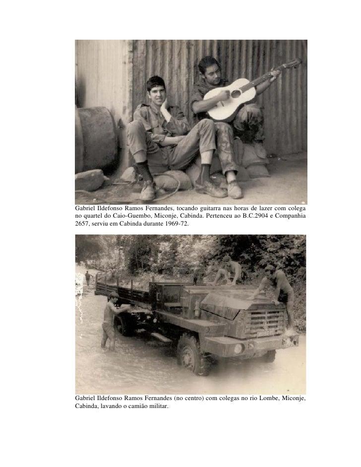 Gabriel Ildefonso Ramos Fernandes, tocando guitarra nas horas de lazer com colega no quartel do Caio-Guembo, Miconje, Cabi...