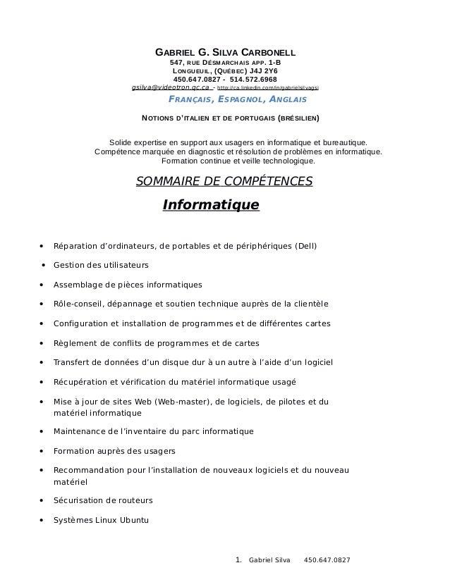 GABRIEL G. SILVA CARBONELL                                 547, RUE DÉSMARCHAIS APP . 1-B                                 ...