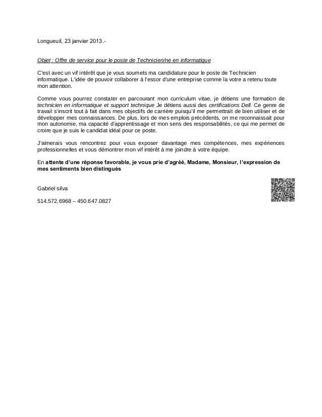 gabriel silva lettre de presentation 2013